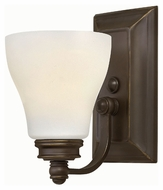 Hinkley 53580OZ Claire Oil Rubbed Bronze Finish 9.25  Tall Lamp Sconce