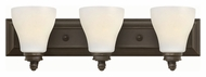 Hinkley 53583OZ Claire Oil Rubbed Bronze Finish 7.25 Tall 3 Light Bath Wall Sconce