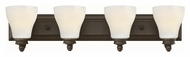 Hinkley 53584OZ Claire Oil Rubbed Bronze Finish 30 Wide 4 Light Bathroom Light Sconce