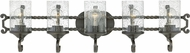 Hinkley 5545OL-CL Casa Olde Black LED 5-Light Bathroom Light
