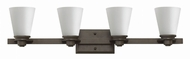 Hinkley 5554KZ Avon Buckeye Bronze 4-Light Bathroom Sconce Lighting