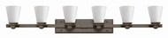 Hinkley 5556KZ Avon Buckeye Bronze 6-Light Bathroom Wall Light Fixture