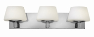 Hinkley 55753CM Bianca Chrome Halogen 3-Light Bathroom Sconce
