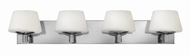 Hinkley 55754CM Bianca Chrome Halogen 4-Light Bath Sconce