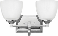 Hinkley 5602CM Faye Chrome LED 2-Light Bathroom Light Fixture