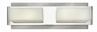 Hinkley 56422BN Domino Contemporary Brushed Nickel Halogen 2-Light Bathroom Light