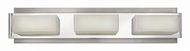 Hinkley 56423BN Domino Modern Brushed Nickel Halogen 3-Light Bathroom Lighting Fixture