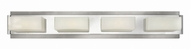 Hinkley 56424BN Domino Contemporary Brushed Nickel Halogen 4-Light Vanity Lighting