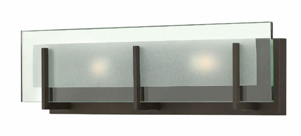 Bathroom Vanity Lights Led hinkley 5652oz latitude modern oil rubbed bronze 2-light bathroom