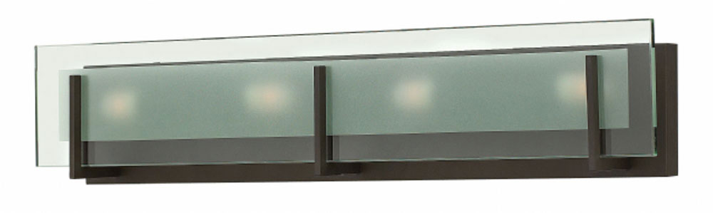 Bathroom Vanity Lights In Bronze hinkley 5654oz latitude contemporary oil rubbed bronze 4-light