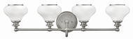 Hinkley 56554BN Ainsley Brushed Nickel 4-Light Bath Sconce