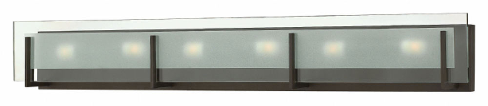 Hinkley 5656OZ Latitude Modern Oil Rubbed Bronze 6 Light Vanity Light  Fixture. Loading Zoom