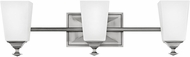 Hinkley 56673AN Baldwin Modern Antique Nickel LED 3-Light Bath Sconce