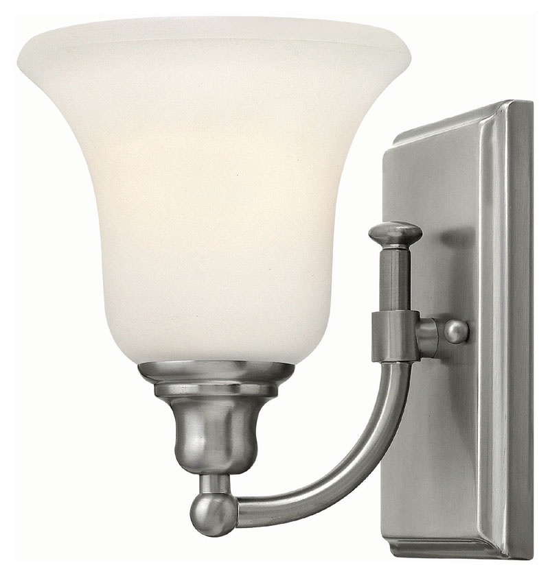 Hinkley 58780BN Colette Brushed Nickel Finish 8.25u0026nbsp; Tall Wall Light  Sconce. Loading Zoom
