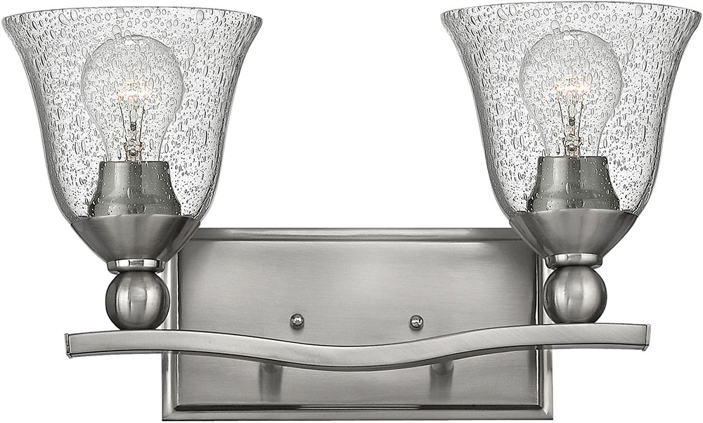 Hinkley 5892bn cl bolla brushed nickel 2 light bathroom lighting hinkley 5892bn cl bolla brushed nickel 2 light bathroom lighting fixture loading zoom aloadofball Image collections