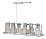 Hinkley 63306BN-SM Refinery Contemporary Brushed Nickel with Smoked Island Lighting