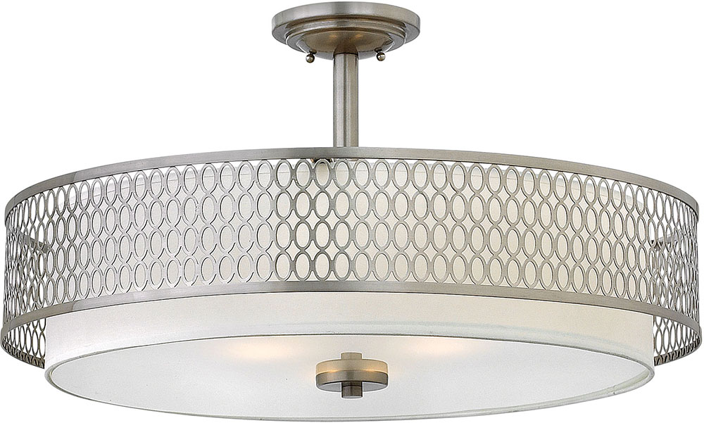 Hinkley fr35604bni jules contemporary brushed nickel drum drop hinkley fr35604bni jules contemporary brushed nickel drum drop ceiling light fixture loading zoom aloadofball Choice Image