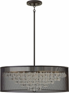Hinkley FR38906BLK Fiona Modern Black 30  Drum Lighting Pendant