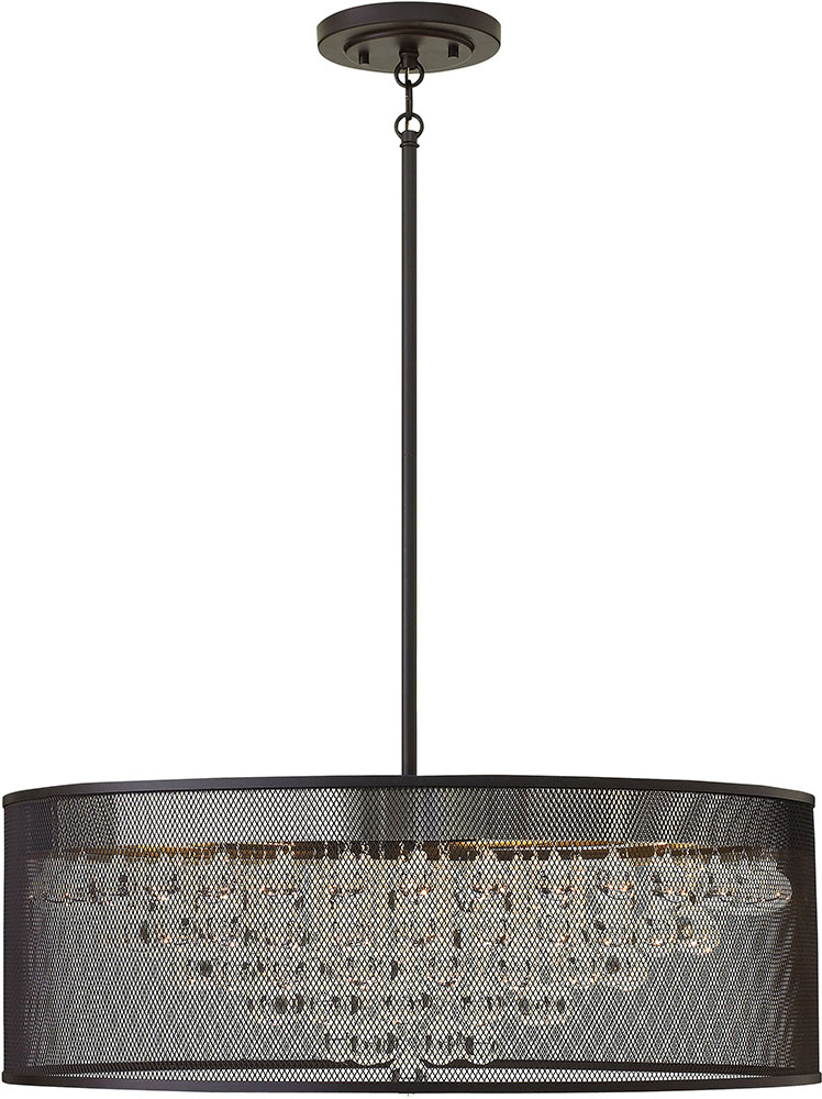 Hinkley FR38906BLK Fiona Modern Black 30 Drum Lighting