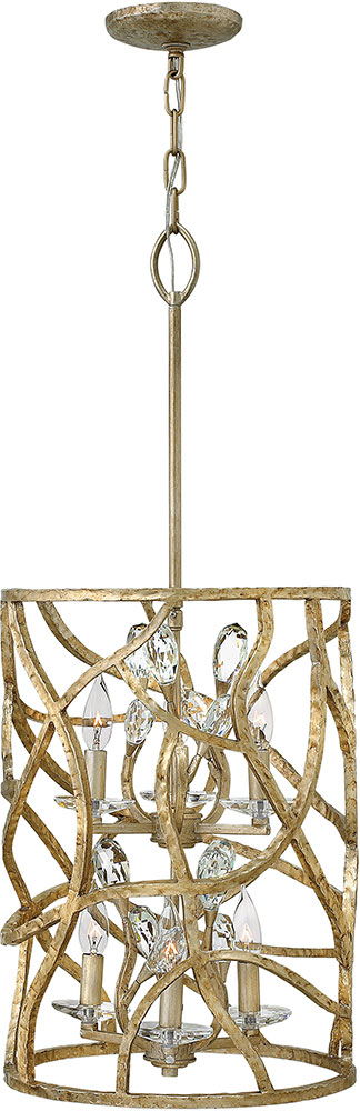 Gold Foyer Lighting : Hinkley fr cpg eve champagne gold foyer lighting