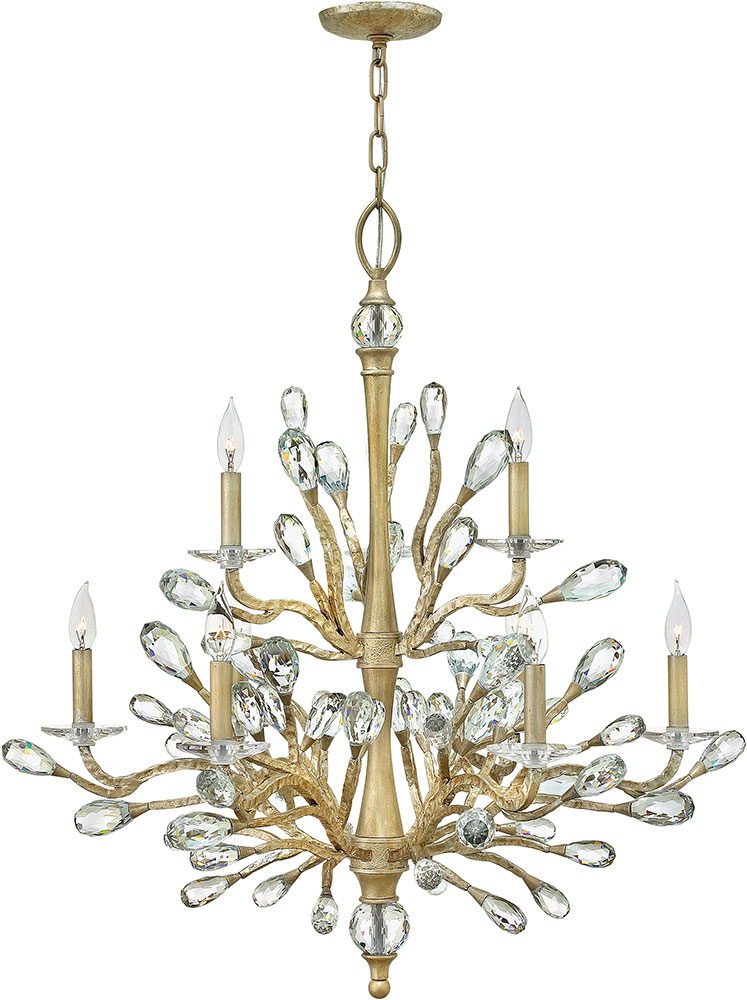 Hinkley Fr46809cpg Eve Champagne Gold Chandelier Lighting