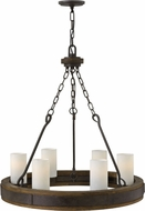 Hinkley FR48436IRN Cabot Rustic Iron Ceiling Chandelier