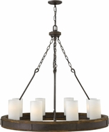 Hinkley FR48439IRN Cabot Rustic Iron Hanging Chandelier