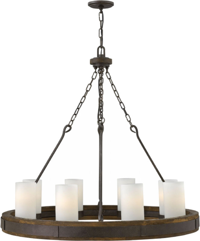 Hinkley fr48439irn cabot rustic iron hanging chandelier hin fr48439irn hinkley fr48439irn cabot rustic iron hanging chandelier loading zoom aloadofball Choice Image