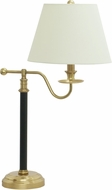House of Troy B551-BWB Bennington Black with Weathered Brass Table Lamp Lighting