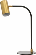 House of Troy C350-WB-BLK Cavendish Contemporary Weathered Brass and Black LED Table Lamp