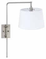 House of Troy CR725-SN Crown Point Satin Nickel Finish 18  Tall Wall Swing Arm Lamp