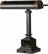 House of Troy DSK440-MBAC Steamer Mahogany Bronze w/ Antique Copper Accents Reading Light
