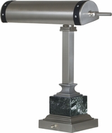 House of Troy DSK440-SNBLK Steamer Satin Nickel w/ Black Accents Reading Lamp