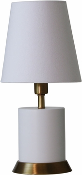 House of Troy GEO306 Geo White w/ Weathered Brass Accents Accent Lamp