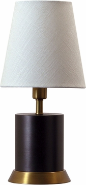 House of Troy GEO311 Geo Mahogany Bronze w/ Weathered Brass Accents Accent Lighting
