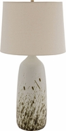 House of Troy GS101-DWG Scatchard Decorated White Gloss Lighting Table Lamp
