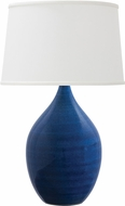 House of Troy GS202-BG Scatchard Blue Gloss Table Lamp