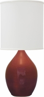House of Troy GS301-CR Scatchard Crimson Red Side Table Lamp
