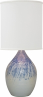 House of Troy GS301-DG Scatchard Decorated Gray Table Lamp