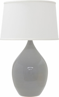 House of Troy GS302-GG Scatchard Gray Gloss Table Top Lamp