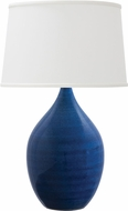 House of Troy GS402-BG Scatchard Blue Gloss Table Top Lamp