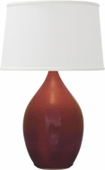 House of Troy GS402-CR Scatchard Crimson Red Table Light