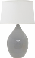 House of Troy GS402-GG Scatchard Gray Gloss Table Lamp Lighting