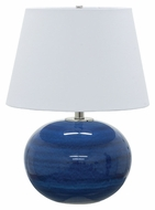 House of Troy GS700-BG Scatchard Blue Gloss Finish 22  Tall Table Light