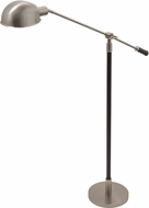 House of Troy H525-SN Hardwick Satin Nickel with Black Leather Floor Lamp Lighting