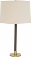 House of Troy H553-AB Hardwick Antique Brass with Brown Leather Table Top Lamp