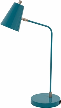House of Troy K150-TL Kirby Modern Teal LED Craft Lamp w/ USB Port
