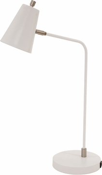 House of Troy K150-WT Kirby Contemporary White LED Task Lighting w/ USB Port