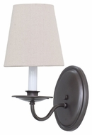 House of Troy LS217-MB Lake Shore Mahogany Bronze Finish 11.5  Tall Wall Light Sconce