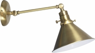 House of Troy OT675-AB-MS Otis Antique Brass Swing Arm Wall Lighting Fixture